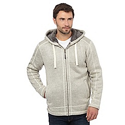 Mantaray - Big and tall grey fleece lined hoodie