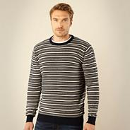 Big and tall navy aztec striped jumper