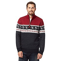 Mantaray - Red ski print jumper