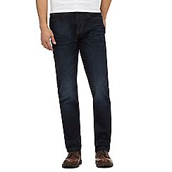 Mantaray - Navy mid wash straight fit jeans
