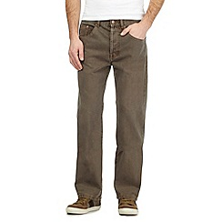 Mantaray - Big and tall Brown straight leg jeans