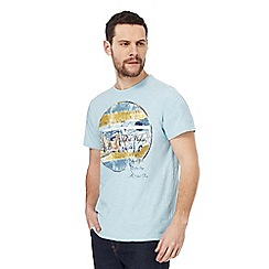 Mantaray - Big and tall light blue 'road trip' print t-shirt