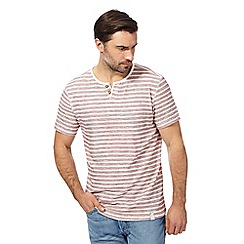 Mantaray - Red striped notch neck top