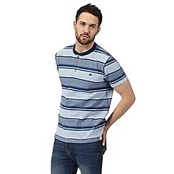 Mantaray - Big and tall blue striped t-shirt