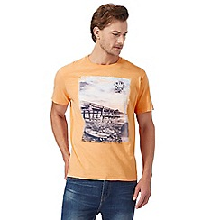 Mantaray - Orange graphic print t-shirt