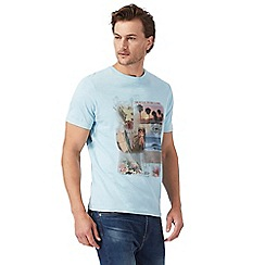 Mantaray - Big and tall light blue graphic print t-shirt