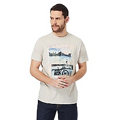 Mantaray - Grey 'bike journey' print t-shirt