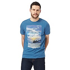 Mantaray - Blue 'Goldcoast surfboards' print t-shirt