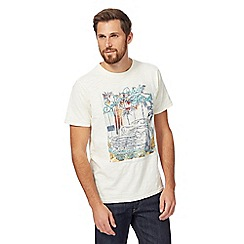 Mantaray - Big and tall off white summer festival print t-shirt