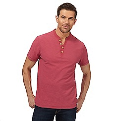 Mantaray - Dark pink Y neck t-shirt