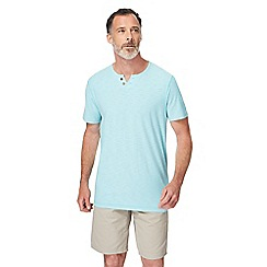 Mantaray - Light blue notch neck t-shirt
