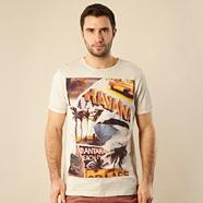 Cream Cuban motif printed t-shirt