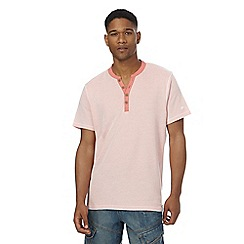 Mantaray - Big and tall pink y-shaped neck t-shirt