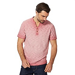 Mantaray - Big and tall pink oil-wash-effect t-shirt