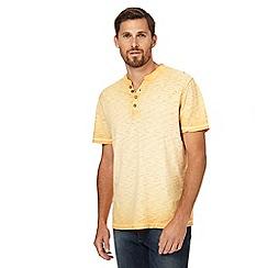 Mantaray - Orange oil-wash-effect t-shirt