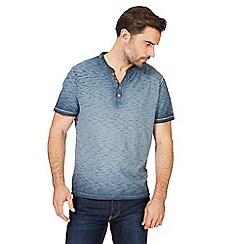 Mantaray - Big and tall dark grey oil washed t-shirt