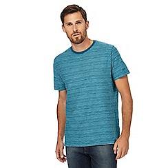 Mantaray - Blue plain stripe crew neck t-shirt