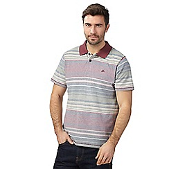 Mantaray - Big and tall red variegated striped polo shirt