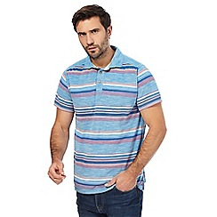 Mantaray - Big and tall multi-coloured stripe polo shirt