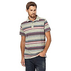Mantaray - Big and tall multi-coloured striped polo shirt