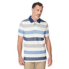 Mantaray - Blue striped polo shirt