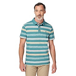 Mantaray - Dark green striped polo shirt