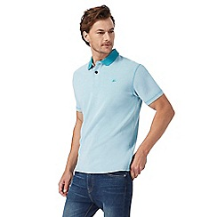 Mantaray - Big and tall turquoise textured polo shirt