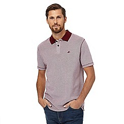 Mantaray - Big and tall red textured polo shirt