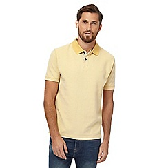 Mantaray - Big and tall yellow 'relief' polo shirt