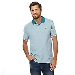 Mantaray - Big and tall dark turquoise textured polo shirt