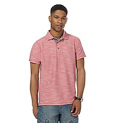 Mantaray - Big and tall pink birdseye textured polo shirt