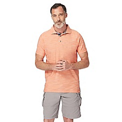 Mantaray - Orange birdseye textured polo shirt