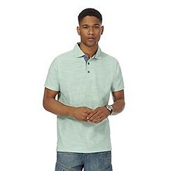 Mantaray - Big and tall light green birdseye textured polo shirt