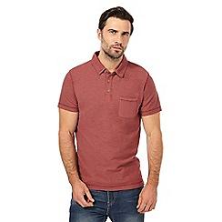 Mantaray - Big and tall red short sleeve polo shirt