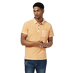 Mantaray - Big and tall orange short sleeve polo shirt