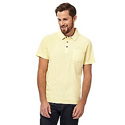 Mantaray - Big and tall yellow short sleeve polo shirtá
