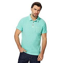 Mantaray - Big and tall green short sleeved polo shirt