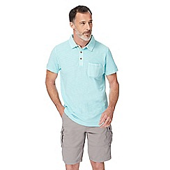 Mantaray - Big and tall light turquoise short sleeve polo shirt
