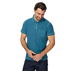 Mantaray - Dark turquoise vintage wash polo shirt
