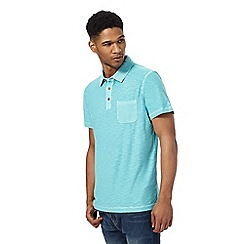 Mantaray - Turquoise short sleeve polo shirt