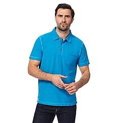 Mantaray - Big and tall blue vintage wash polo shirt