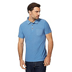 Mantaray - Big and tall blue vintage wash polo shirt