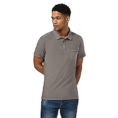 Mantaray - Big and tall dark grey short sleeve polo shirtá