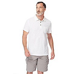 Mantaray - White short sleeve polo shirt