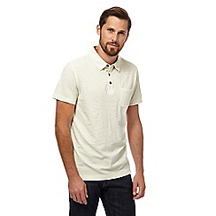 Mantaray - Big and tall pale yellow short sleeve polo shirt