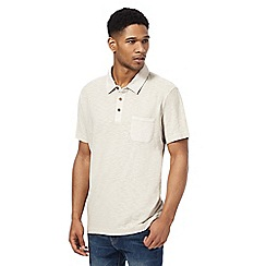Mantaray - Big and tall natural short sleeve polo shirtá