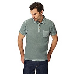 Mantaray - Big and tall khaki vintage wash polo shirt