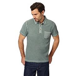 Mantaray - Big and tall khaki vintage wash polo shirt