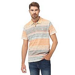 Mantaray - Orange pastel polo shirt