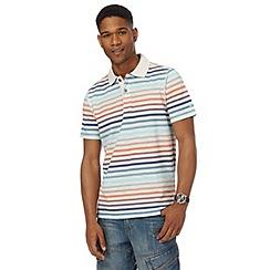 Mantaray - Big and tall natural striped polo shirt
